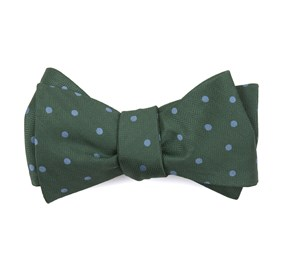 Kelly Green Jackson Dots bow ties