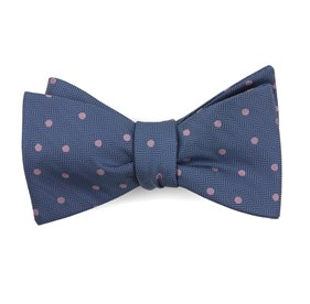 Jackson Dots Blue Bow Ties