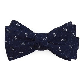 Navy Dragonflies bow ties