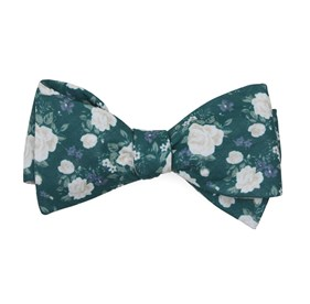 Hunter Green Hodgkiss Flowers bow ties