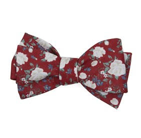 Red Hodgkiss Flowers bow ties