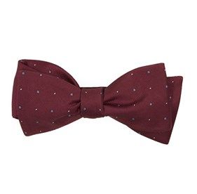 Burgundy Delisa Dots bow ties