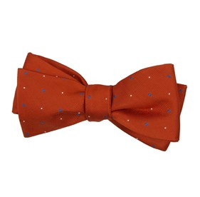 Orange Delisa Dots bow ties