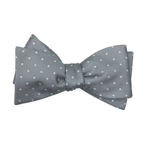 mumu weddings - seaside dot silver sage bow ties