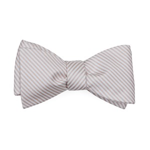 mumu weddings - coastal stripe dusty blush bow ties