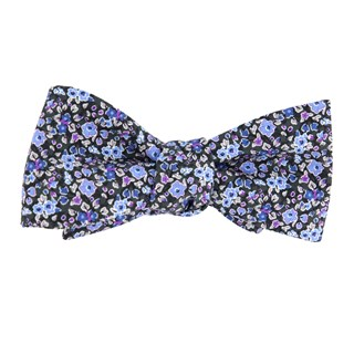 freesia floral charcoal bow ties