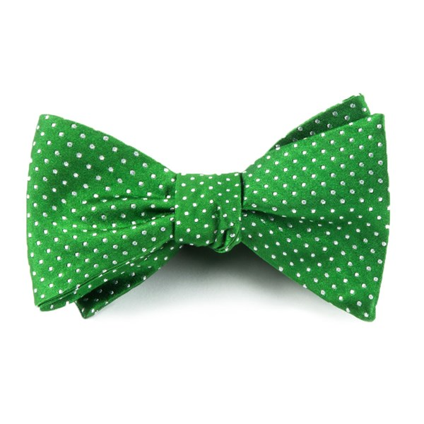 Kelly Green Pindot Bow Tie