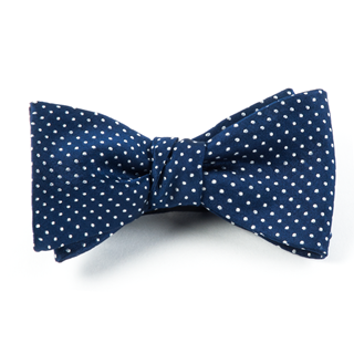 pindot navy bow ties