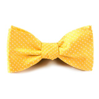 pindot yellow gold bow ties