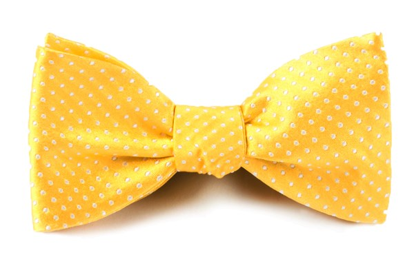 Pindot Yellow Gold Bow Tie