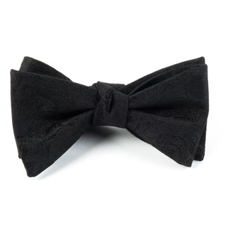 designer paisley black bow ties