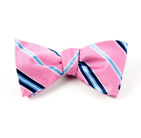 Clinton Stripe Pink Bow Ties