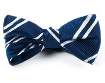 Bow Ties - DOUBLE STRIPE - NAVY
