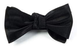 BOW TIES - SOLID SATIN - BLACK