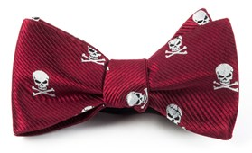 Bow Ties - SKULL AND CROSSBONES - RED