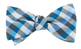 Bow Ties - COLORFUL GINGHAM - BLUES