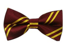 Bow Ties - DOUBLE STRIPE - BURGUNDY