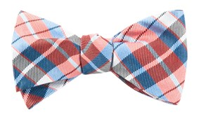 Bow Ties - TOTALLY TARTAN - CORAL