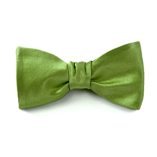 Clover Solid Satin Bow Tie