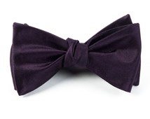 Bow Ties - SOLID SATIN - EGGPLANT