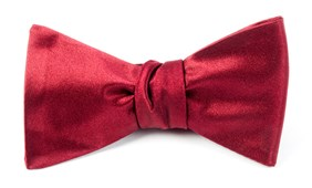 BOW TIES - SOLID SATIN - RED