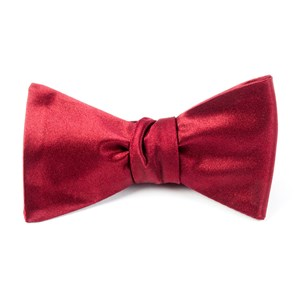 solid satin red bow ties
