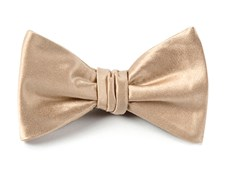 Bow Ties - Solid Satin - Light Champagne