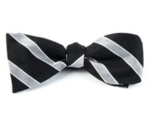Bow Ties - HONOR STRIPE - BLACK
