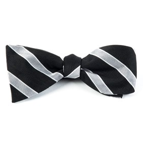 Honor Stripe Black Bow Ties