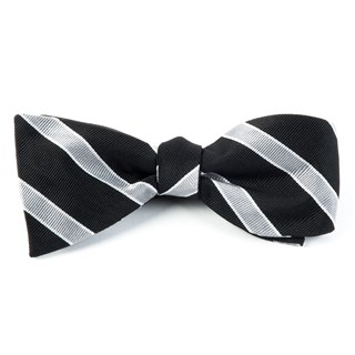 Honor Stripe Black Bow Tie