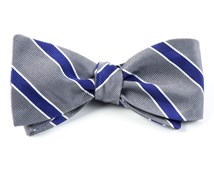 Bow Ties - HONOR STRIPE - SILVER