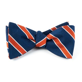 Honor Stripe Orange Bow Tie
