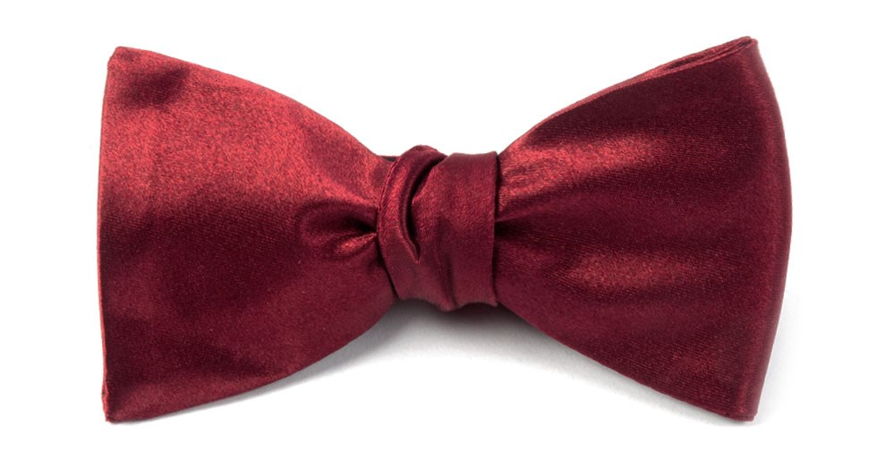 Burgundy Solid Satin Bow Tie Men S Bow Ties The Tie Bar