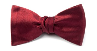 BOW TIES - SOLID SATIN - BURGUNDY