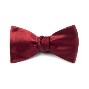 solid satin burgundy bow ties