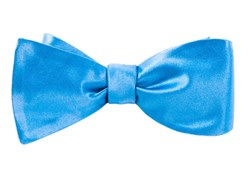 BOW TIES - SOLID SATIN - MYSTIC BLUE