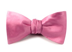 BOW TIES - SOLID SATIN - WILD PINK