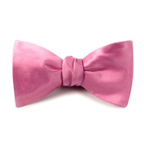 Wild Pink Solid Satin bow ties