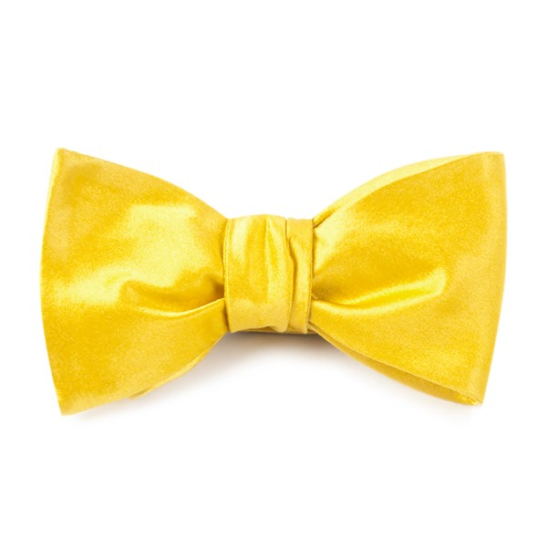 Vegas Gold Solid Satin Bow Tie