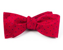 Bow Ties - HOT DOTS - RED