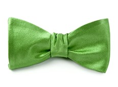 BOW TIES - SOLID SATIN - APPLE GREEN