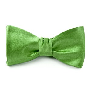 solid satin apple green bow ties