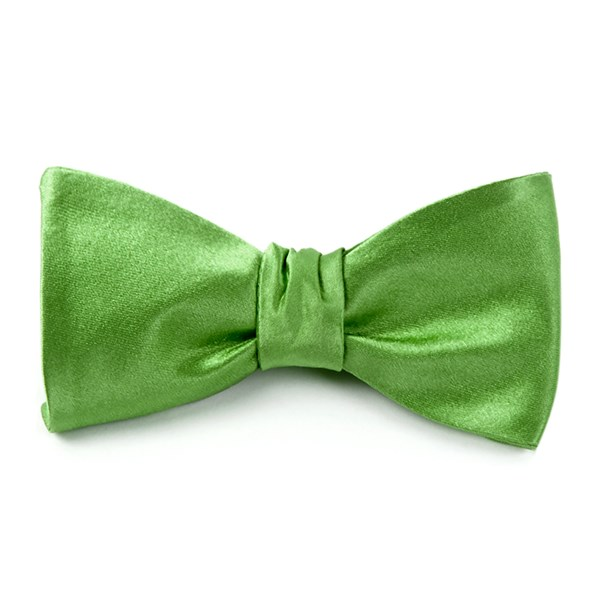 Apple Green Solid Satin Bow Tie