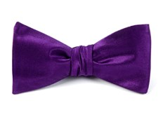 BOW TIES - SOLID SATIN - PLUM