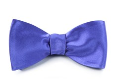 BOW TIES - SOLID SATIN - VIOLET