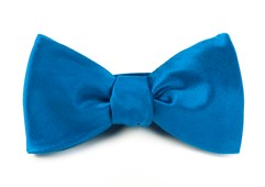 BOW TIES - SOLID SATIN - SERENE BLUE