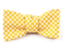 Bow Ties - CHECKED OUT - YELLOW GOLD