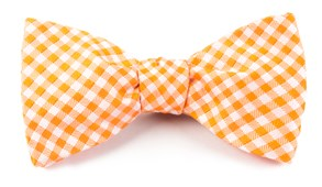 Bow Ties - CHECKED OUT - ORANGE
