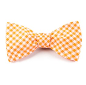 Checked Out Orange Bow Ties