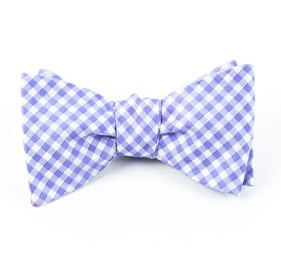 Purple Checked Out bow ties